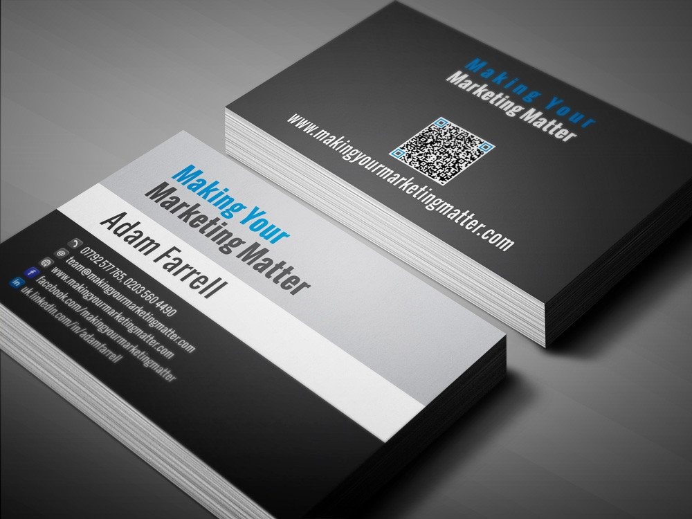 Social Media Business Card Freelance Graphics Designer S Portfolio