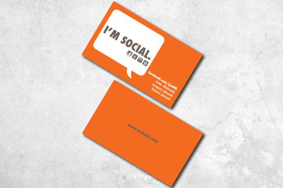Social Media Business Card I M social Business Card Business Card Templates On
