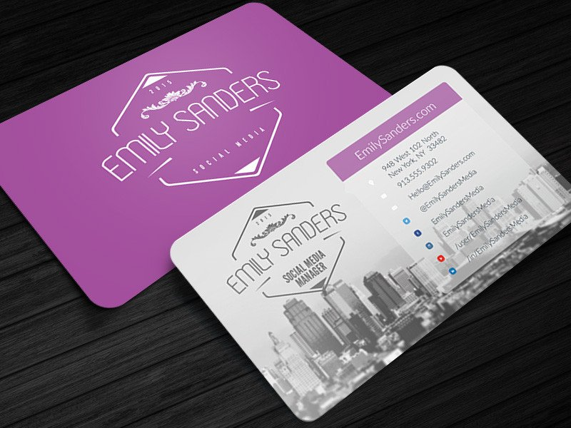 Social Media Business Card social Box social Media Business Card Shop Template