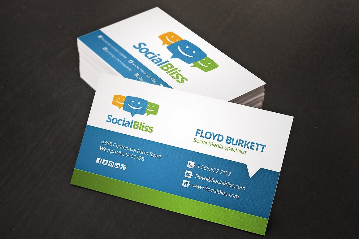 Social Media Business Card social Media Business Card Business Card Templates