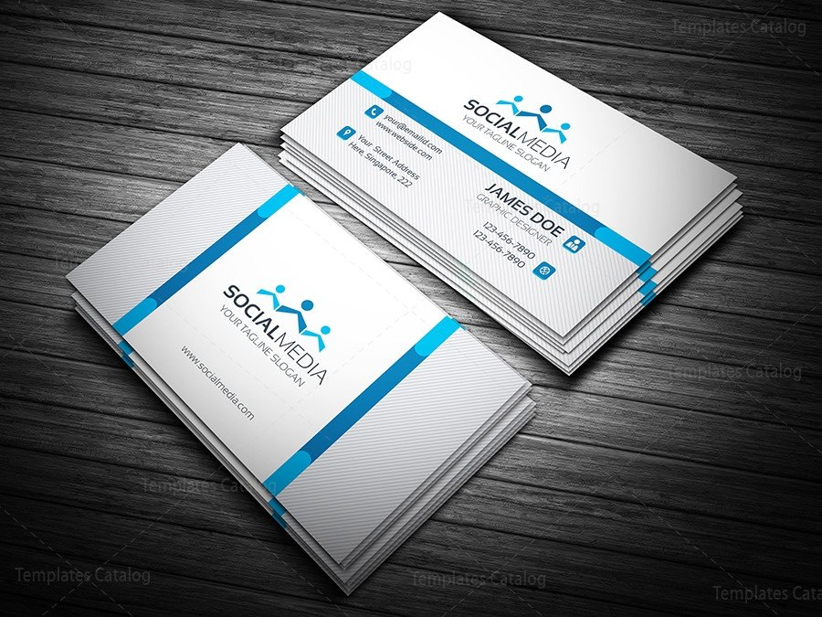 Social Media Business Card social Media Business Card Template Template Catalog