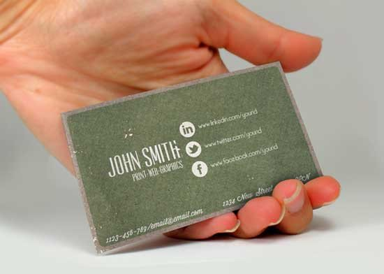 Social Media Business Card social Media Business Cards 20 Creative Examples