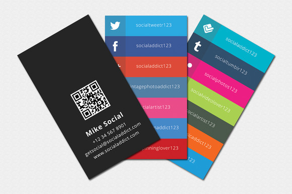 Social Media Business Card social Media Business Cards Samples and Design Ideas