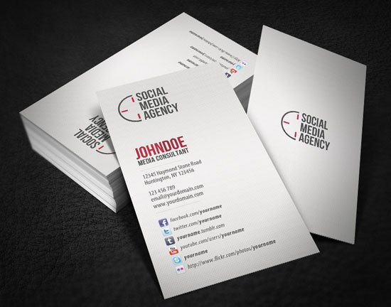 Social Media Business Card top 6 Important Things to Add In Business Cards
