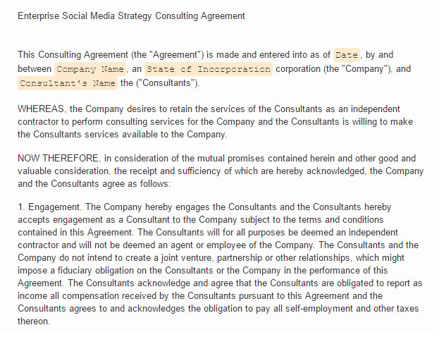 Social Media Contracts Templates social Media Contract Templates Find Word Templates