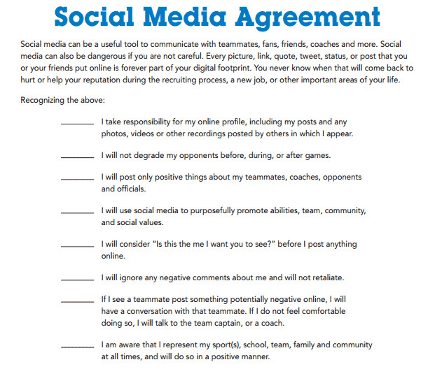 Social Media Contracts Templates social Media Contract Templates