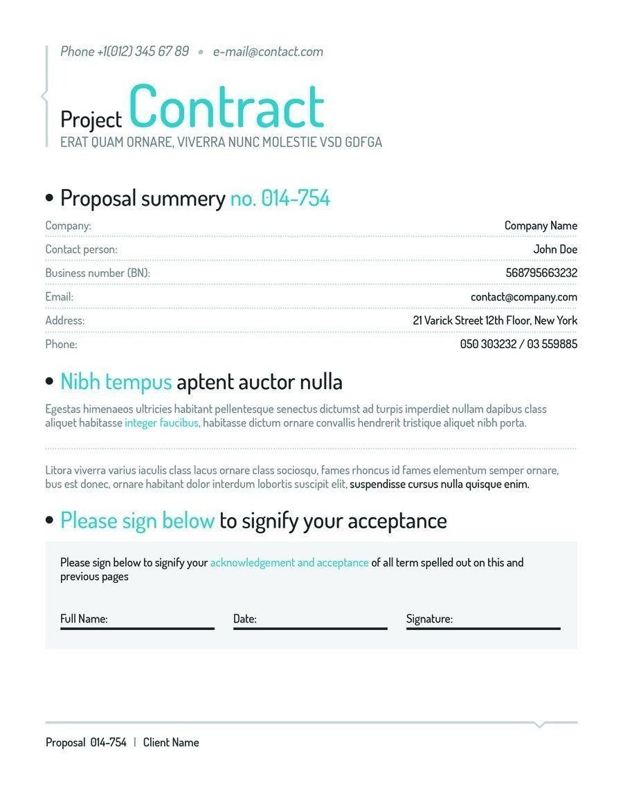 Social Media Contracts Templates [template] social Media Contract Bonsai