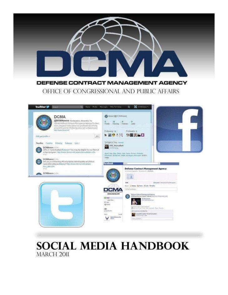 Social Media Management Contract Defense Contract Management Agency social Media Handbook