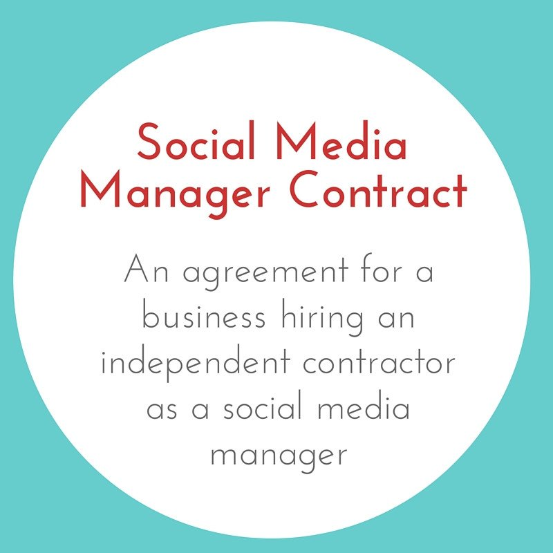 Social Media Management Contract social Media Manager Contract Businessese