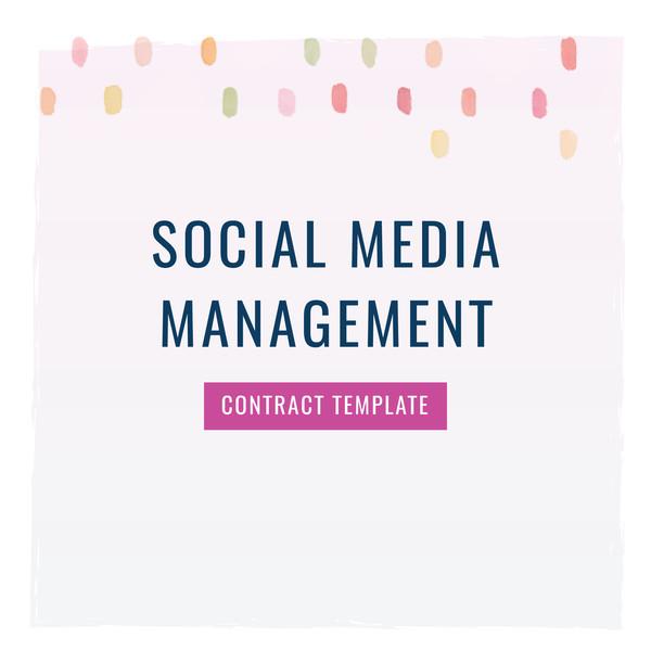 Social Media Management Contract social Media Manager Contract Template the Contract Shop