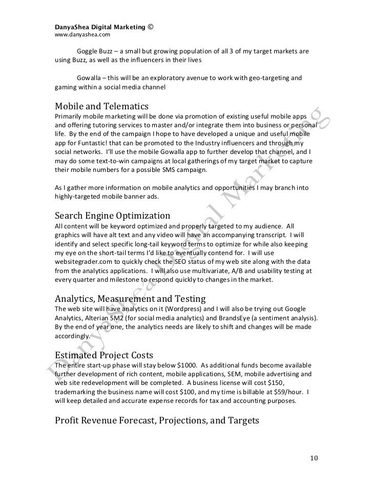 Social Media Marketing Contract social Media Marketing Plan Sample