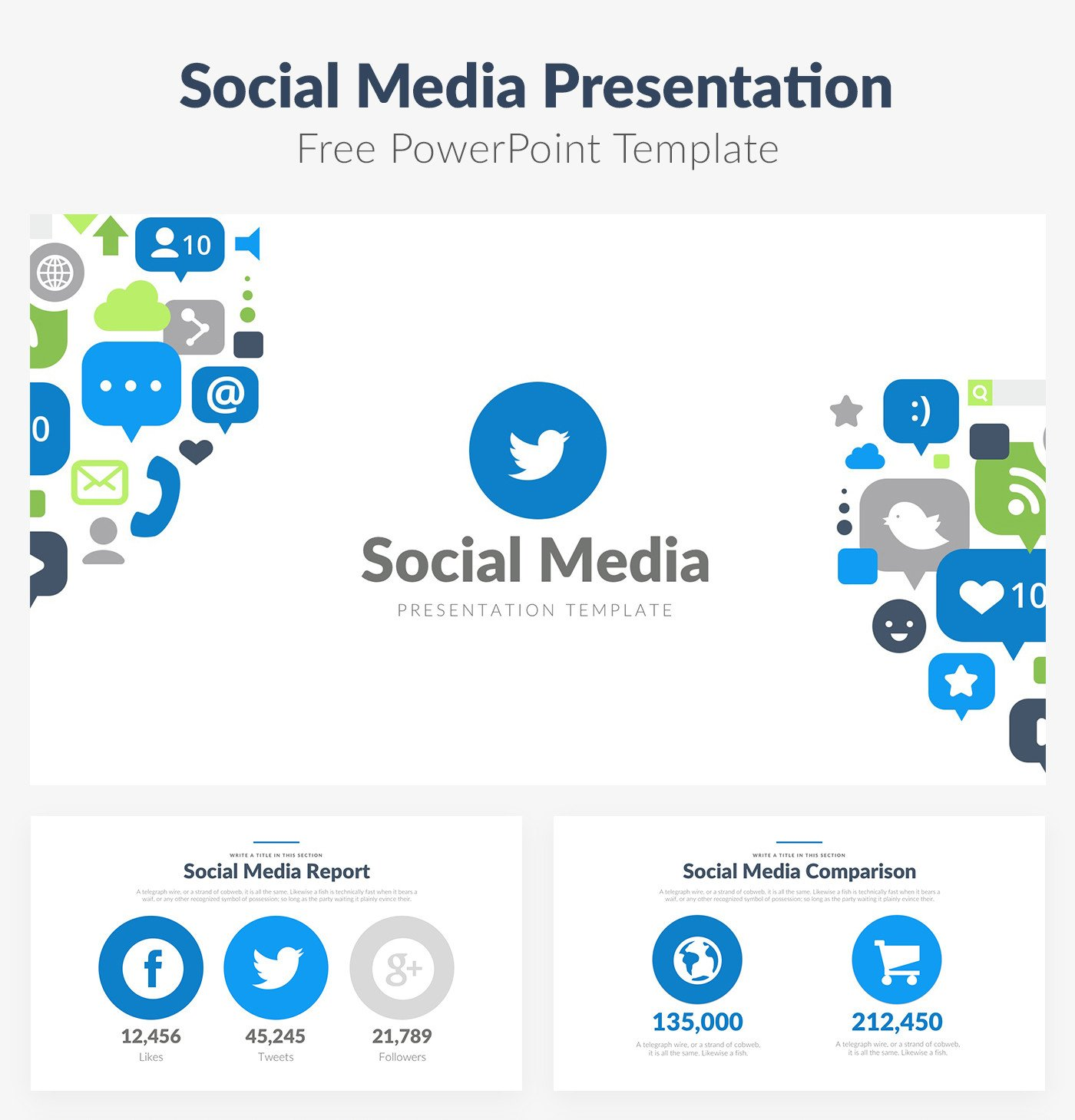 Social Media Ppt Templates 50 Best Free Cool Powerpoint Templates Of 2018 Updated