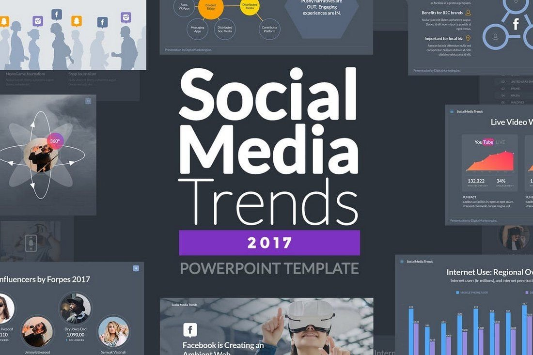 Social Media Ppt Templates 50 Best Powerpoint Templates Of 2019