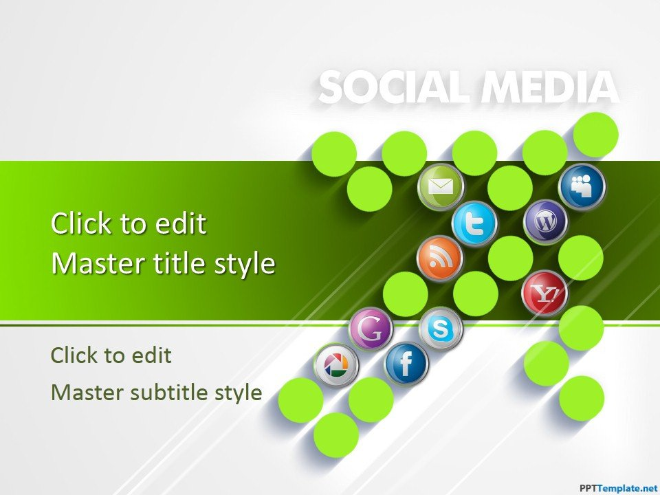 Social Media Ppt Templates Free Ppt Template