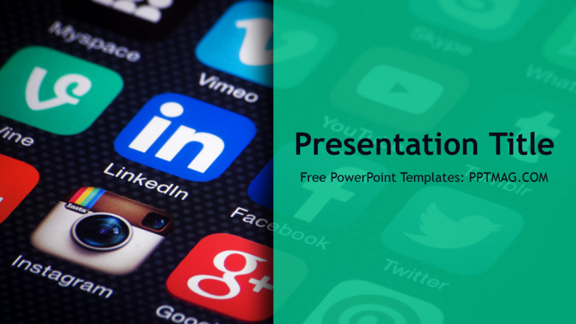Social Media Ppt Templates Free social Media Powerpoint Template Pptmag