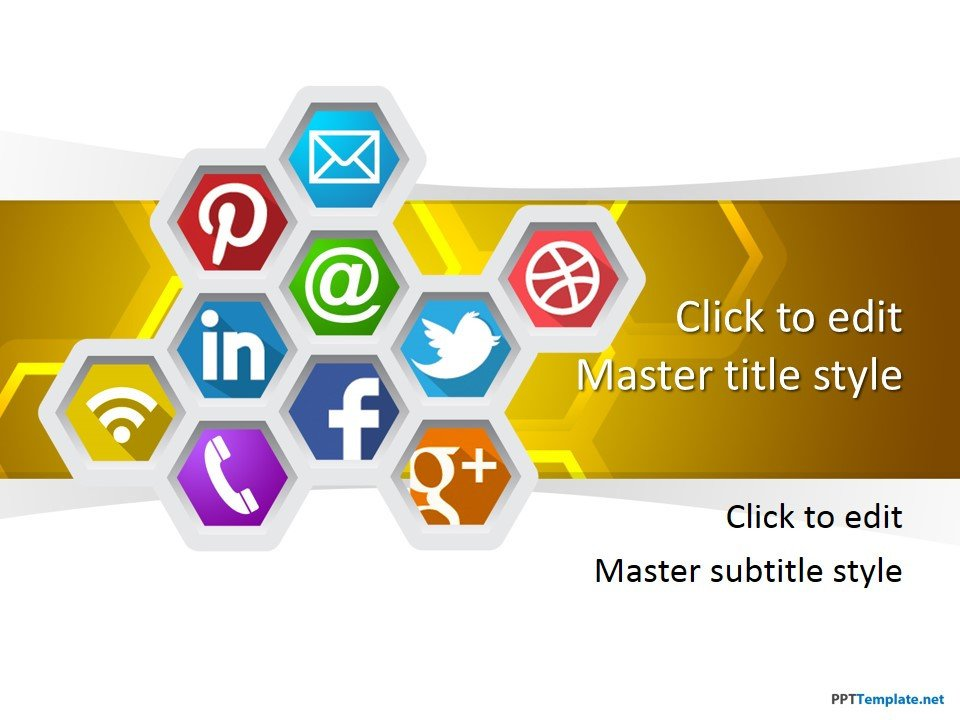 Social Media Ppt Templates Free social Media Ppt Template