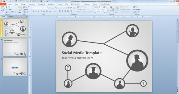 Social Media Ppt Templates Free social Media Template for Powerpoint Presentations