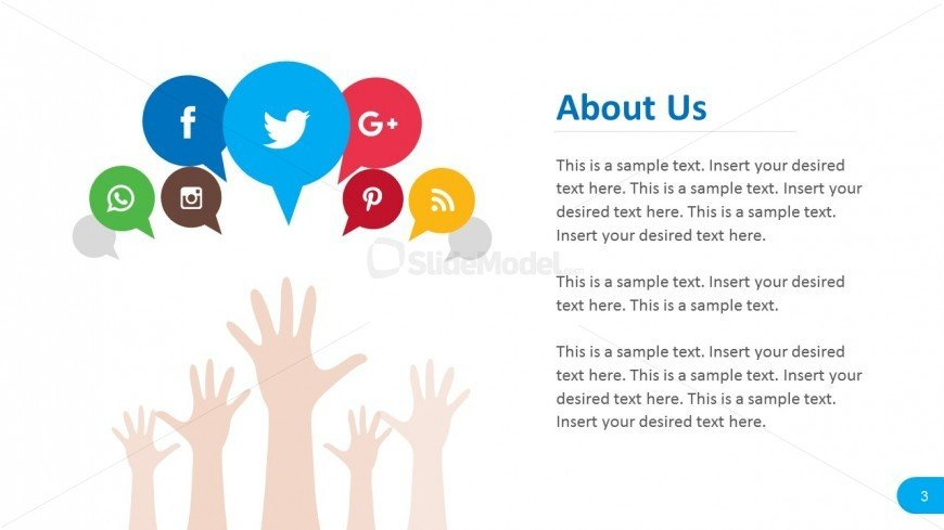 Social Media Ppt Templates social Media About Us Report Template Slidemodel