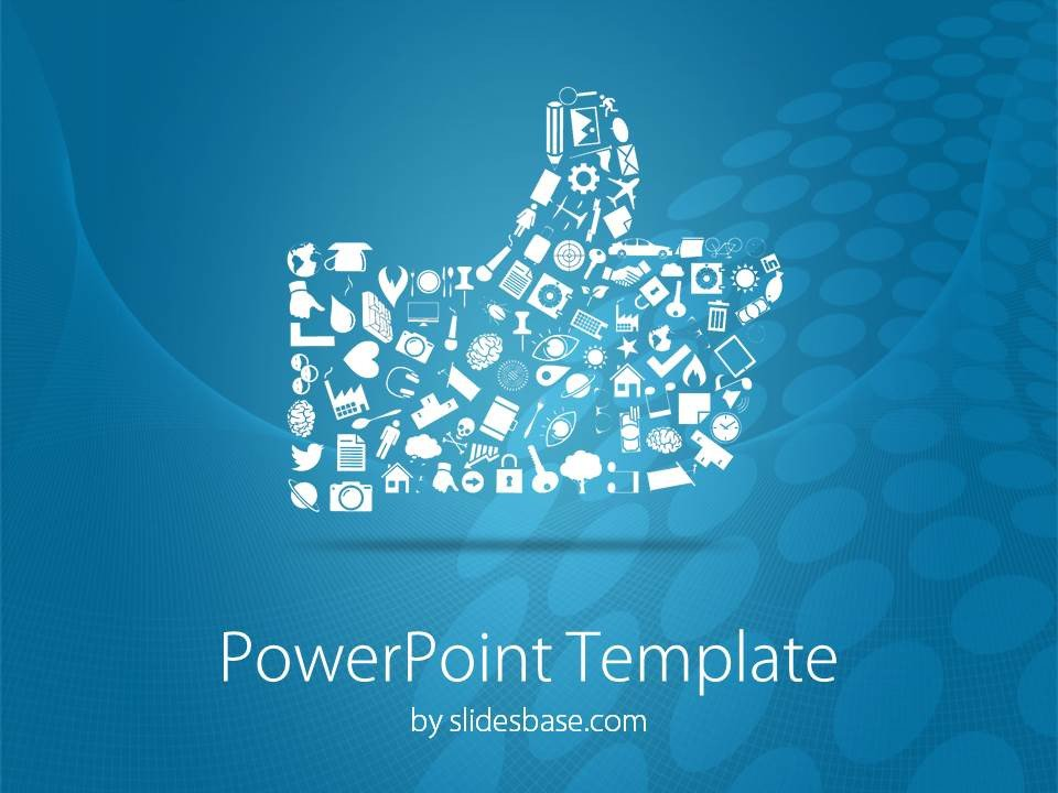 Social Media Ppt Templates social Media Like button Powerpoint Template