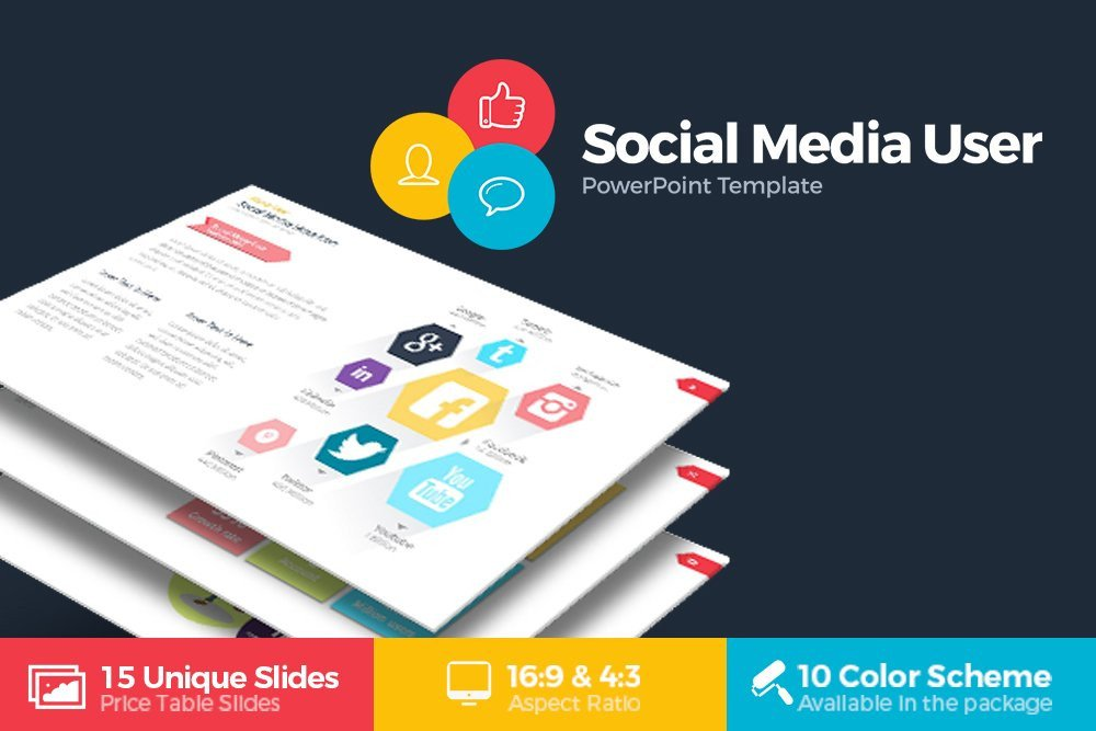 Social Media Ppt Templates social Media User Powerpoint Presentation Templates