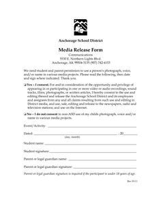 Social Media Release form Release form social Media