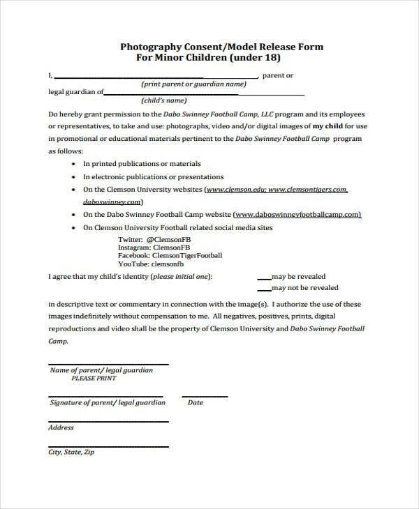 Social Media Release form Release form Templates