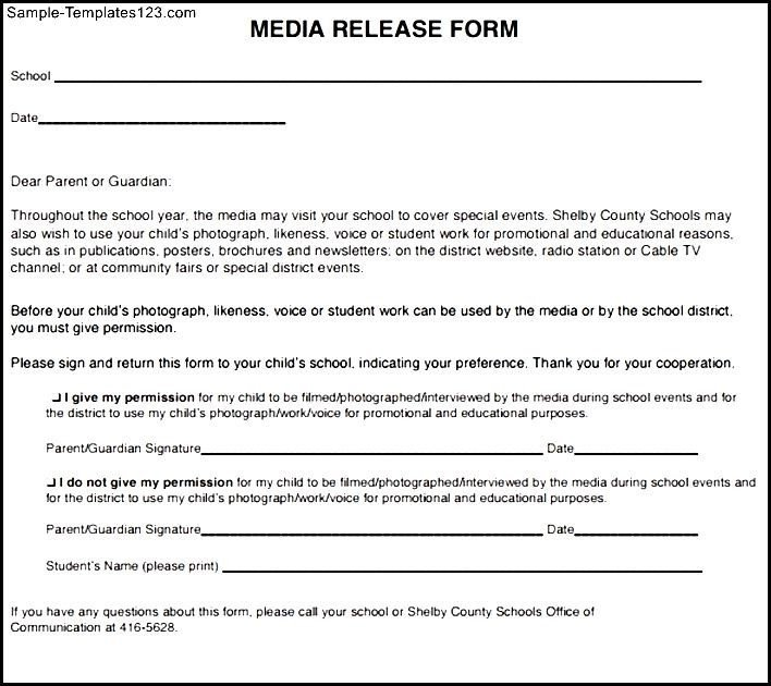 Social Media Release form social Media Release form