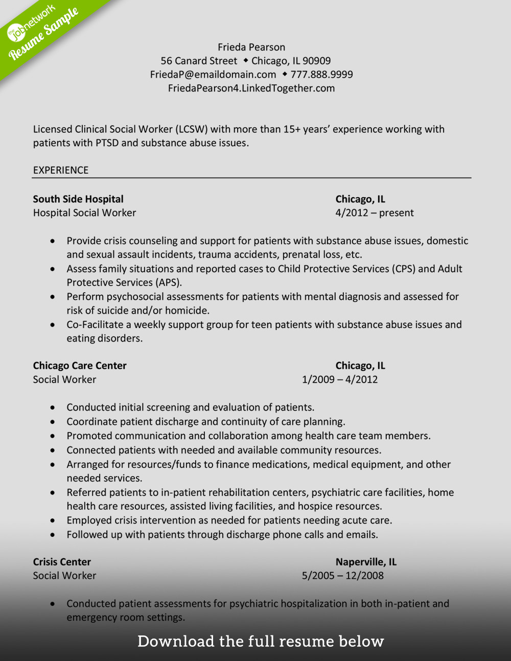 Social Work Resume Template How to Write A Perfect social Worker Resume Examples