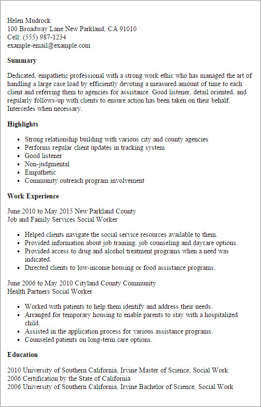 Social Work Resume Template Professional social Worker Templates to Showcase Your