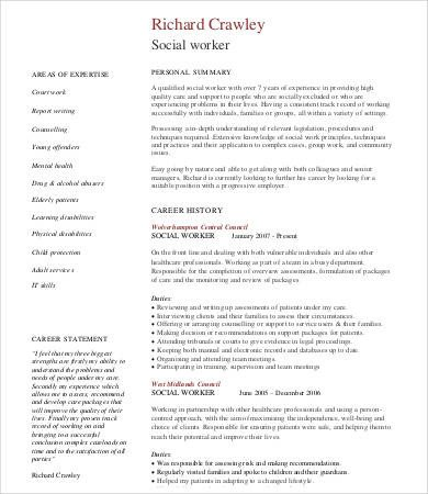 Social Worker Resume Templates 10 social Work Resume Templates Pdf Doc