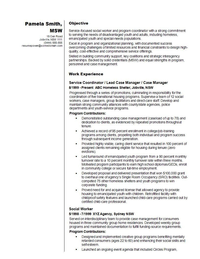 Social Worker Resume Templates 14 Best social Worker Resume Sample Templates Wisestep