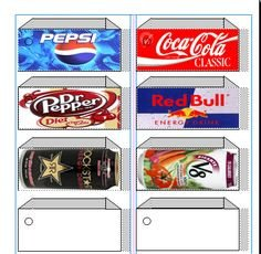 Soda Can Template Printable 1000 Images About Can Labels On Pinterest