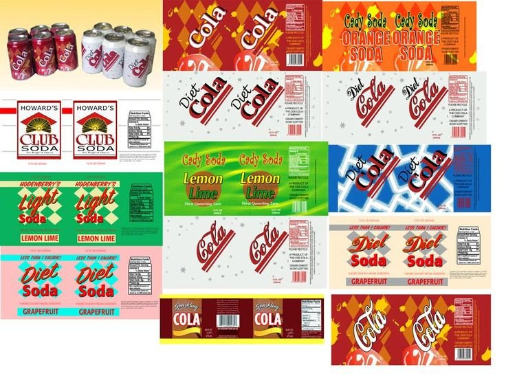Soda Can Template Printable 1000 Images About Printable Miniature Food Labels On