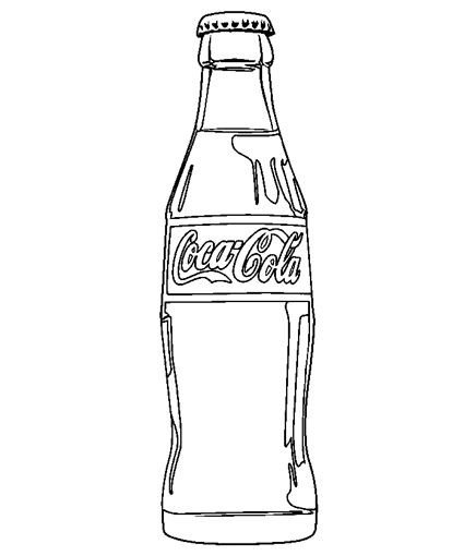 Soda Can Template Printable Coca Cola Coloring Pages and Print for Free