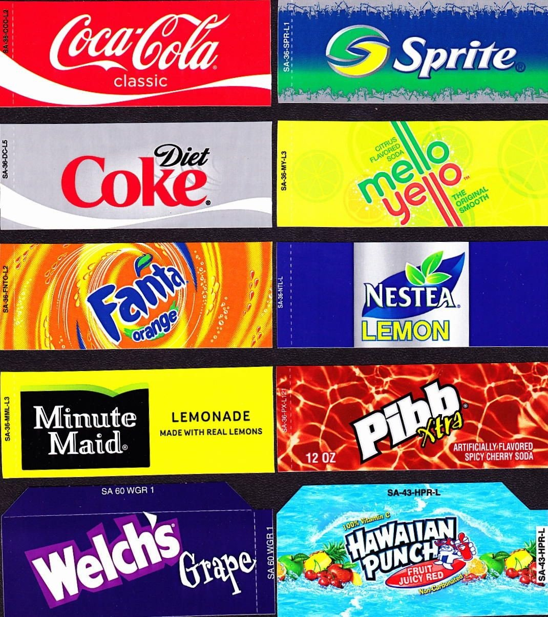 Soda Can Template Printable Coke Machine Labels