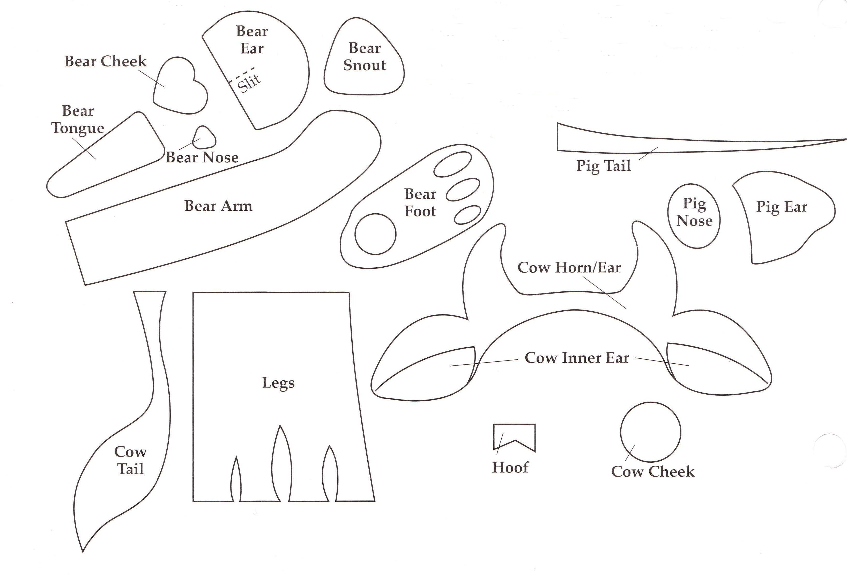 Soda Can Template Printable Cow Ear Pattern to Pin On Pinterest Pinsdaddy