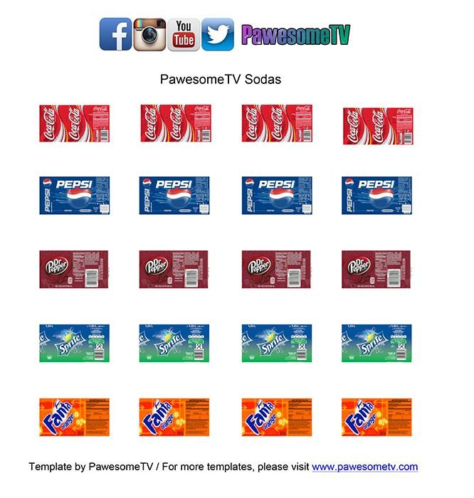 Soda Can Template Printable Diy Lps soda Pawesometv Lilys Crafts