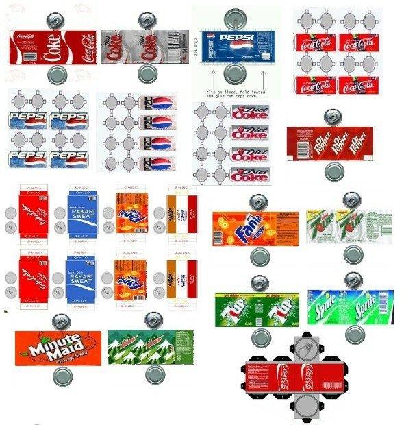 Soda Can Template Printable 【食べ物】ドールハウスの小物 ペーパークラフト 型紙テンプレート展開図【ミニチュア素材】 Naver まとめ
