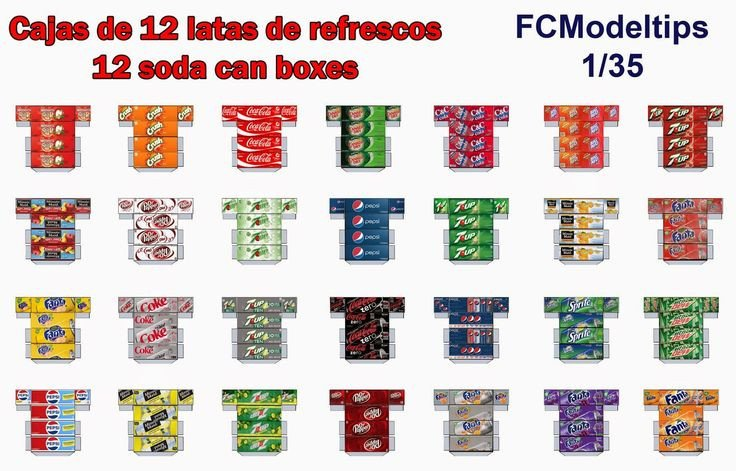 Soda Can Template Printable Fcmodeltips Federico Collada Cajas De Refrescos soda