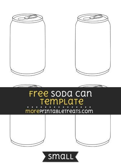 Soda Can Template Printable Free soda Can Template Small