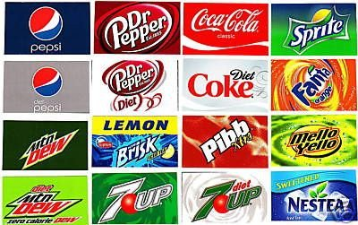 Soda Can Template Printable Labels for Pepsi soda Machines