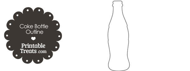 Soda Can Template Printable Printable Coke Bottle Outline — Printable Treats