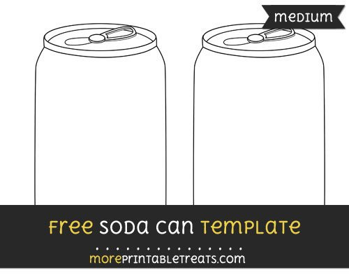 Soda Can Template Printable soda Can Template – Medium