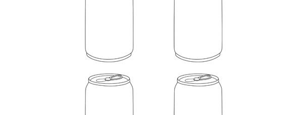 Soda Can Template Printable soda Can Template – Small