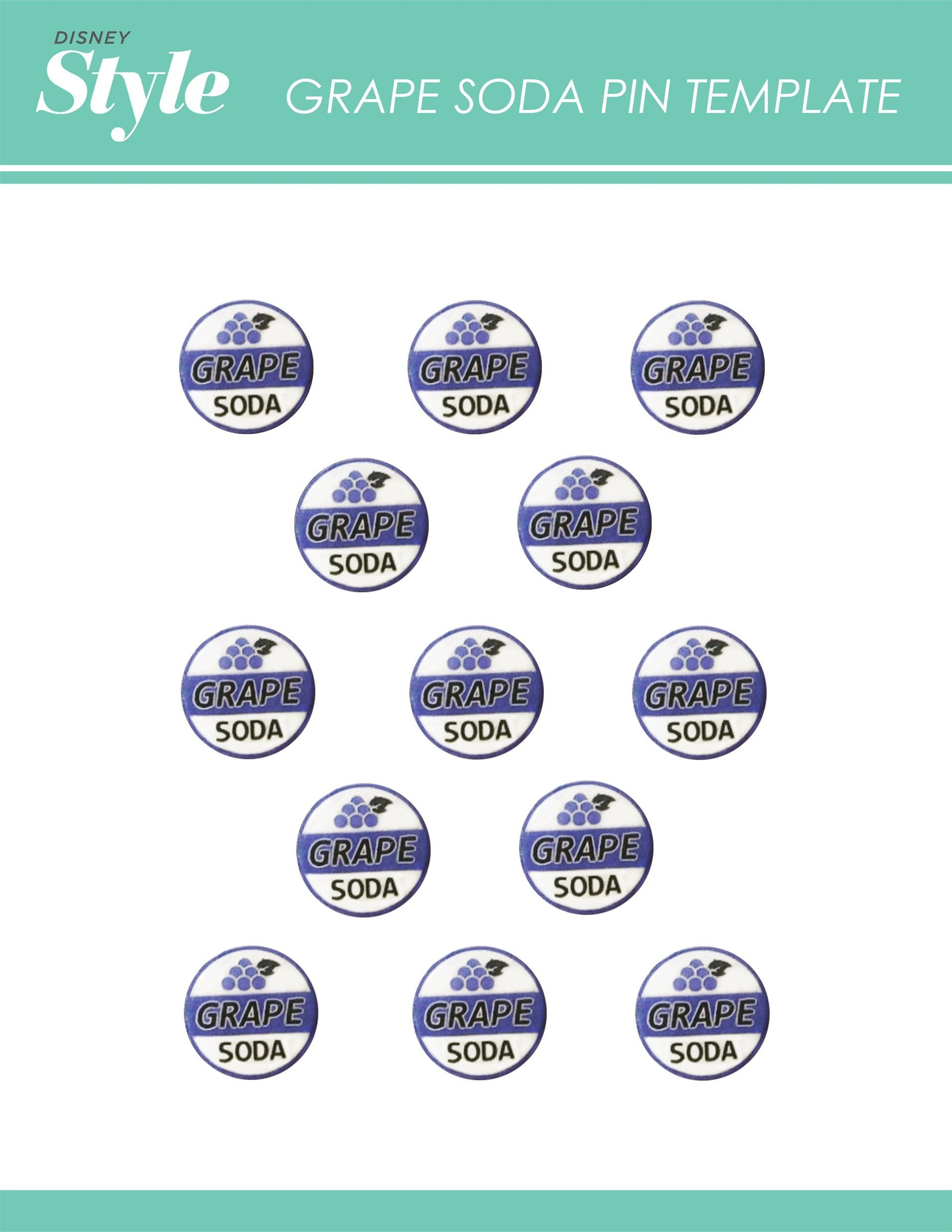 Soda Can Template Printable Up Movie Night Printable Templates for Grape soda Pin and