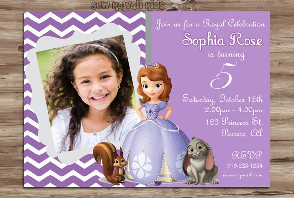Sofia the First Invitation Templates 11 Disney Invitation Templates Free Sample Example