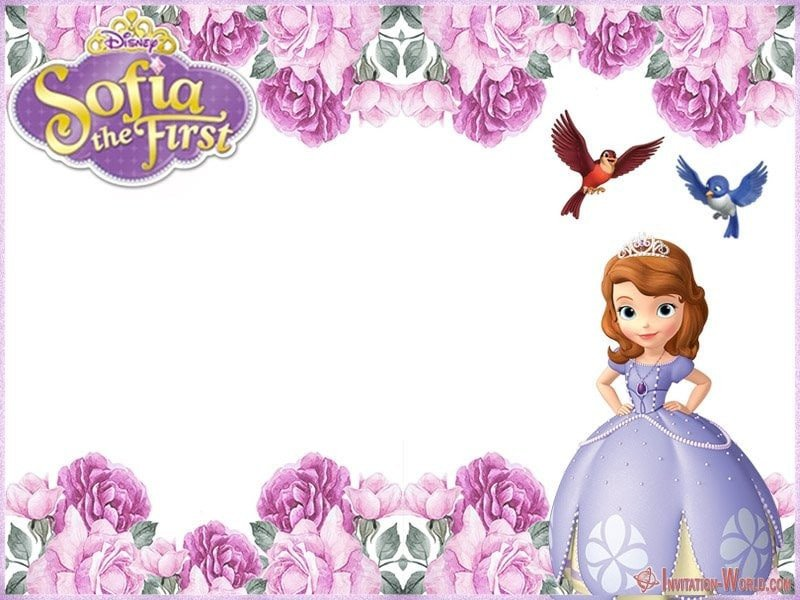 Sofia the First Invitation Templates sofia the First Free Line Invitation Templates