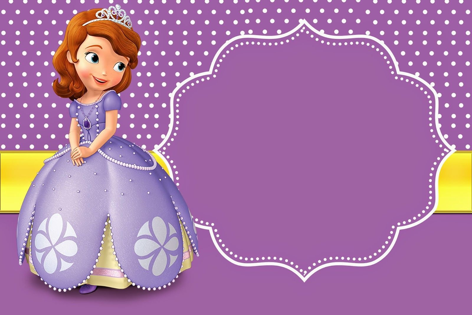 Sofia the First Invitation Templates sofia the First Free Printable Invitations