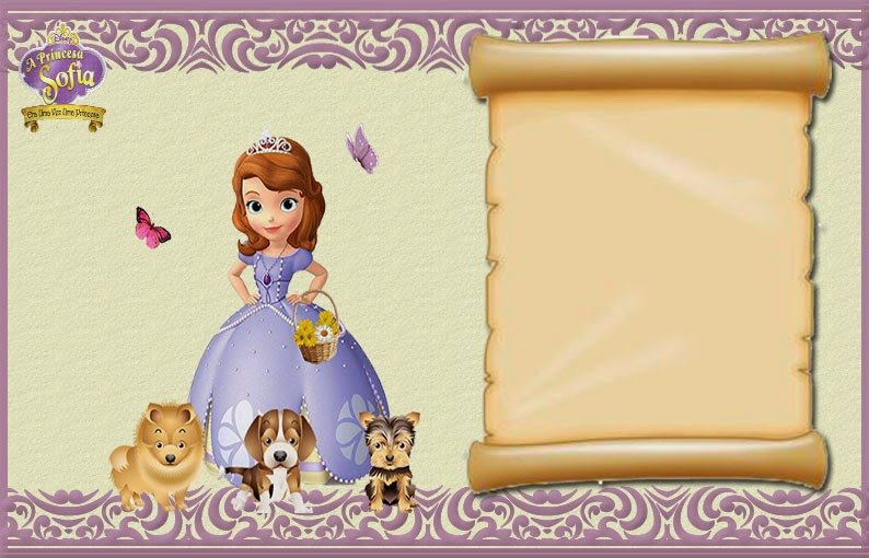Sofia the First Invitation Templates sofia the First Free Printable Invitations or Frames