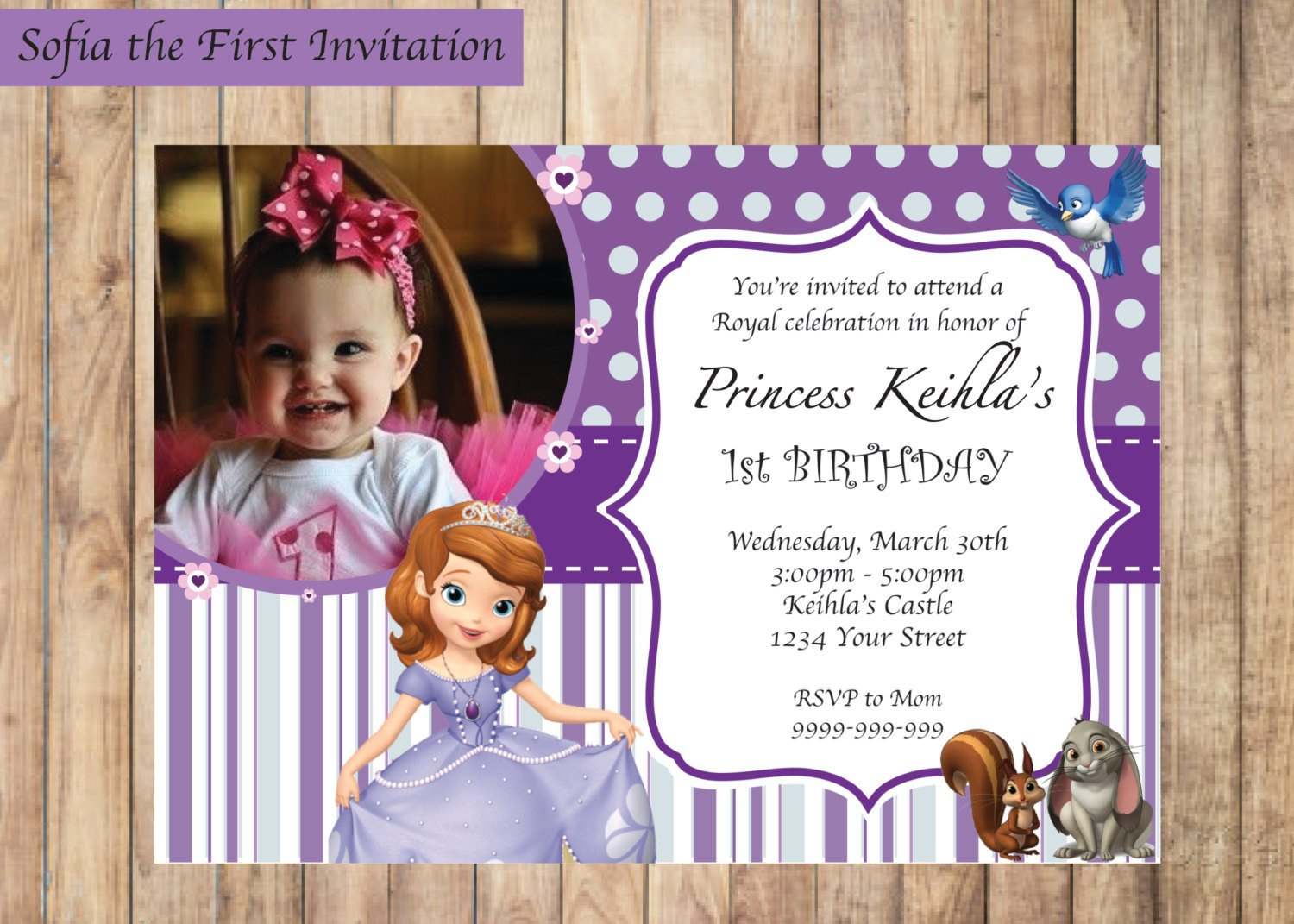 Sofia the First Invitation Templates sofia the First Invitation Printable Birthday Party Invite